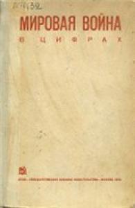 Мировая война в цифрах. Сборник Института мирового хозяйства и мировой политики Коммунистической академии