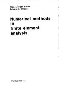 Численные методы анализа и метод конечных элементов