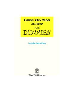 1000D For Dummies