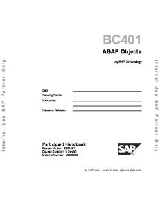 3 (BC 401 ABAP Objects)