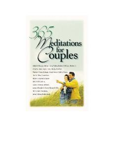 365 Meditations for Couples
