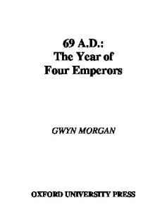 69 AD The Year of Four Emperors