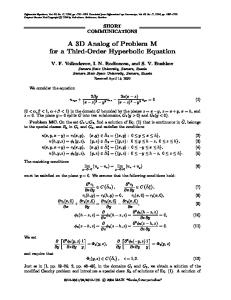 A 3D analog of problem M for a third-order hyperbolic equation