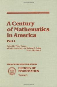 A Century in Mathematics in America