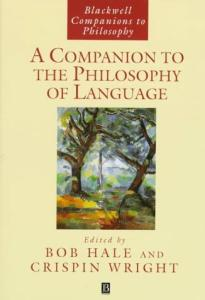 A Companion to the Philosophy of Language