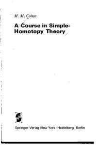 A Course in Simple-Homotopy Theory (Graduate Texts in Mathematics)