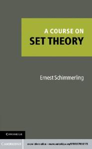 A course on set theory