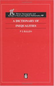 A Dictionary of Inequalities