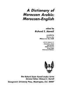 A dictionary of Moroccan Arabic: Moroccan-English