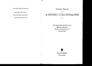 A Dying Colonialism