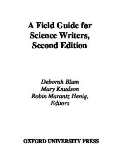 A Field Guide for Science Writers. Second edition