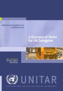 A Glossary of Terms for Un Delegates