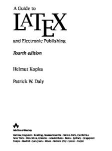 A Guide to LaTeX: Tools and Technologies for Computer Typesetting