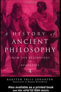 A history of ancient philosophy: from the beginnings to Augustine