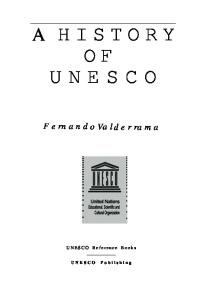 A History of UNESCO (UNESCO reference books)