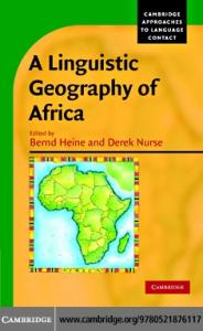 A Linguistic Geography of Africa