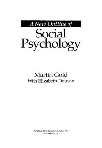 A New Outline of Social Psychology