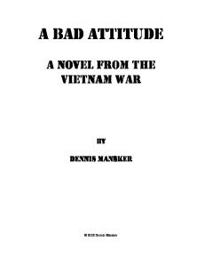 a Novel From the Vietnam War