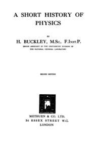 A short history of physics,