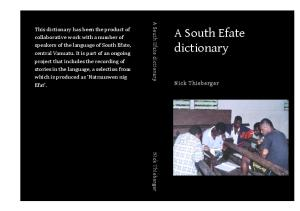 A South Efate Dictionary