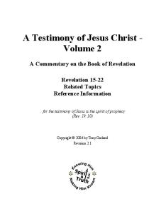 The Second Coming of Christ: the Resurrection of the Christ