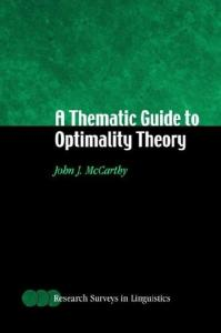 A Thematic Guide to Optimality Theory