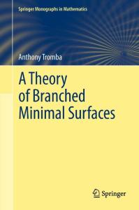 A Theory of Branched Minimal Surfaces