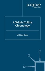 A Wilkie Collins Chronology (Author Chronologies)