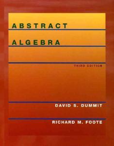 Abstract Algebra, 3rd Edition