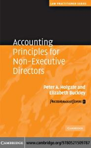 Accounting Principles for Non-Executive Directors (Law Practitioner Series)