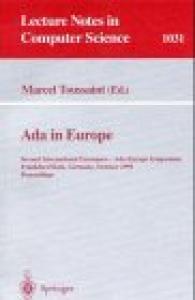 Ada in Europe: Second International Eurospace-Ada-Europe Symposium, Frankfurt, Germany, October 2-6, 1995