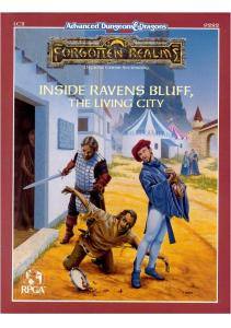 Advanced Dungeons & Dragons Forgotten Realms: Inside Ravens Bluff, The Living City, (LC2) 2nd Edition