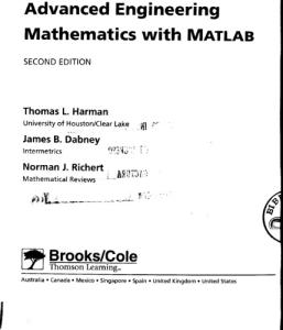 Advanced engineering mathematics with Matlab