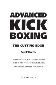 Advanced Kick Boxing (Martial Arts)