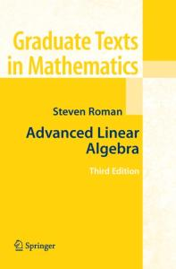Advanced Linear Algebra, Third Edition (Graduate Texts in Mathematics)