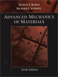 Advanced mechanics of materials