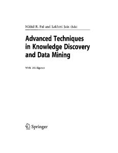 Advanced Techniques in Knowledge Discovery and Data Mining (Advanced Information and Knowledge Processing)