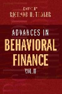 Advances in behavioral finance,