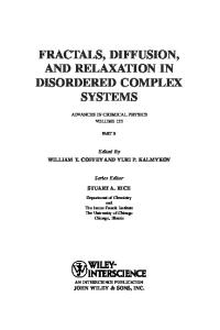 Advances in Chemical Physics, Vol.133, Part B. Fractals, Diffusion, and Relaxation (Wiley 2006)