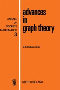 Advances in Graph Theory (Annals of Discrete Mathematics 3)