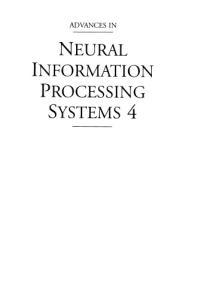 Advances in Neural Information Procesing Systems 4