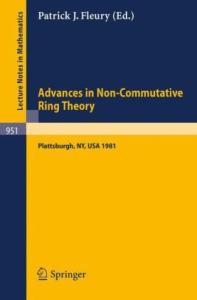 Advances in Non-Commutative Ring Theory. Proc. conf. Plattsburgh, 1981