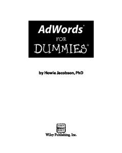 AdWords For Dummies (For Dummies (Computer Tech))