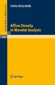 Affine Density in Wavelet Analysis