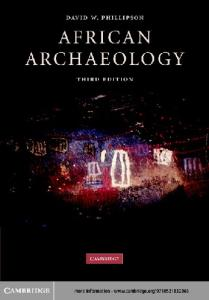 African Archaeology, Third Edition