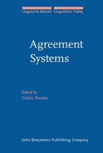 Agreement Systems (Linguistik Aktuell   Linguistics Today, Volume 92)