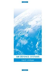Air Defence Systems. Export Catalogue