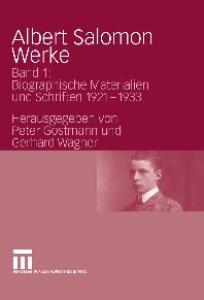 Albert Salomon - Werke