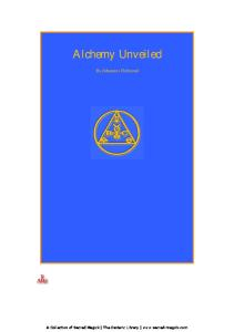 Alchemy Unveiled