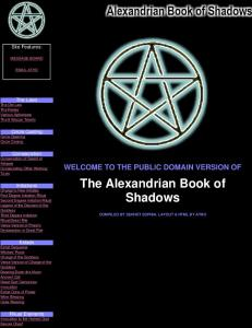 Alexandrian Book of Shadows (WICCA)